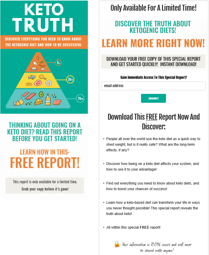 Keto Diet Truth PLR Squeeze Page