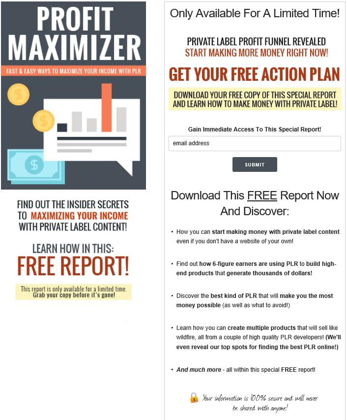 PLR Profit Maximizer PLR Squeeze Page