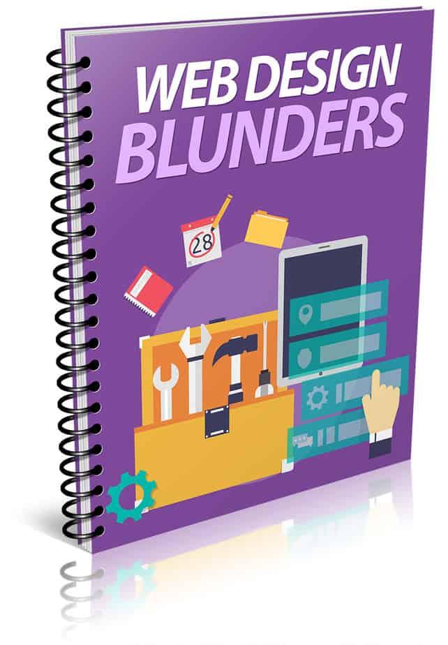 Web Design Blunders PLR Report eCover