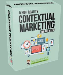5 High Quality Contextual Marketing PLR Articles