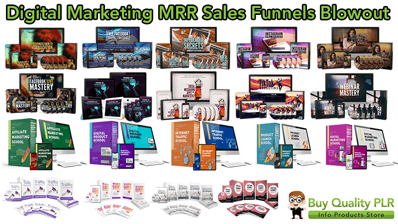 20 Digital Marketing MRR Sales Funnels Blowout