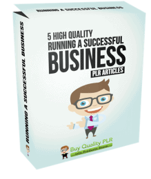 5 High Quality Running a Successful Business PLR Articles