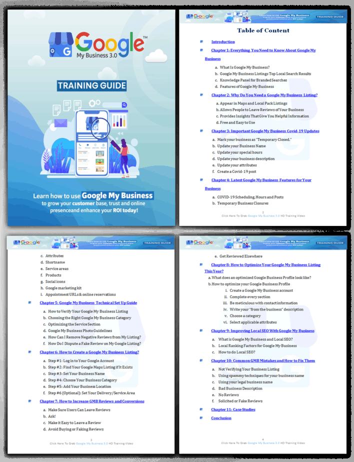 Google My Business 3.0 PLR Sales Funnel Training Guide Screenshot