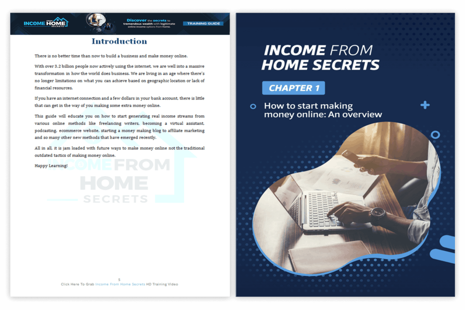 Income from Home Secrets PLR Sales Funnel Training Guide