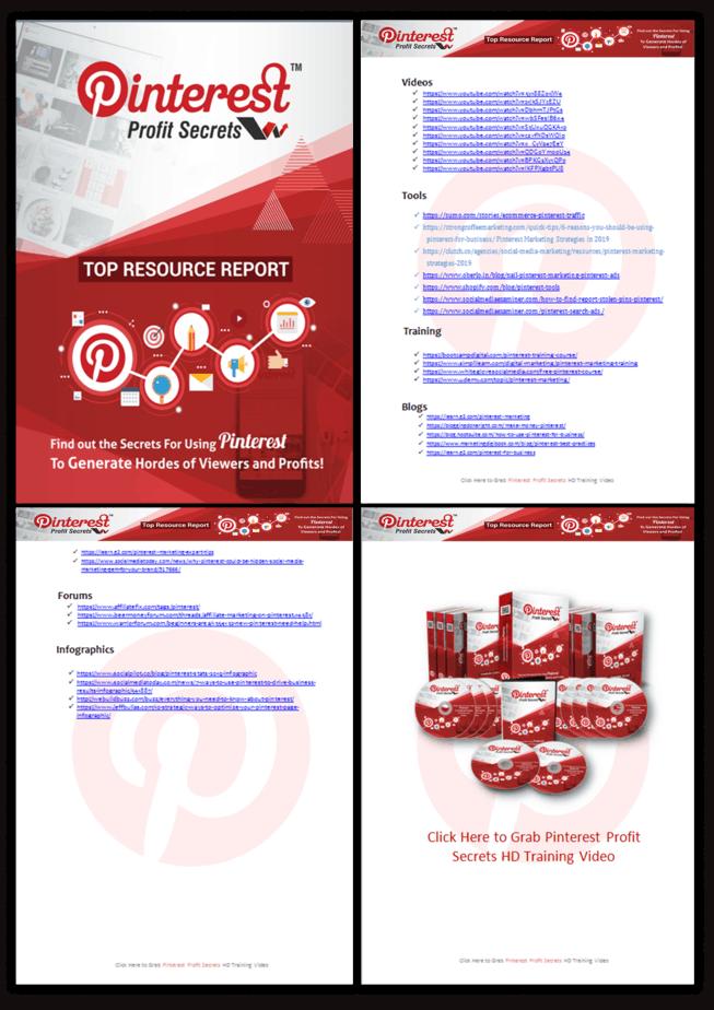 Pinterest Profit Secrests PLR Top Resource Report Screenshot