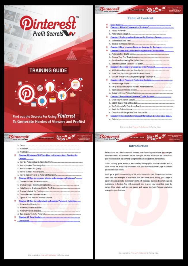 Pinterest Profit Secrets PLR Training Guide Screenshot