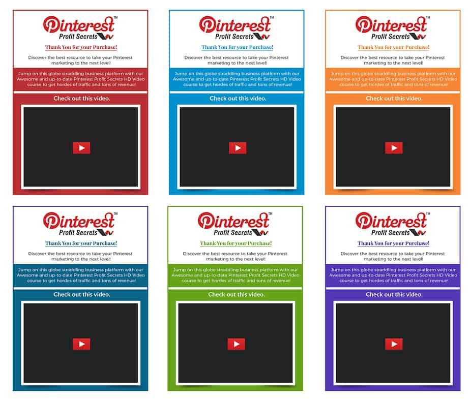 Pinterest Profit Secrets PLR Upsell Mini Site