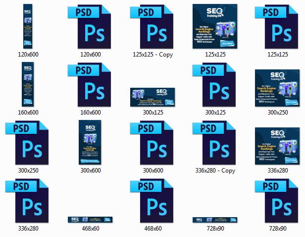 SEO Training Kit Animated Banners