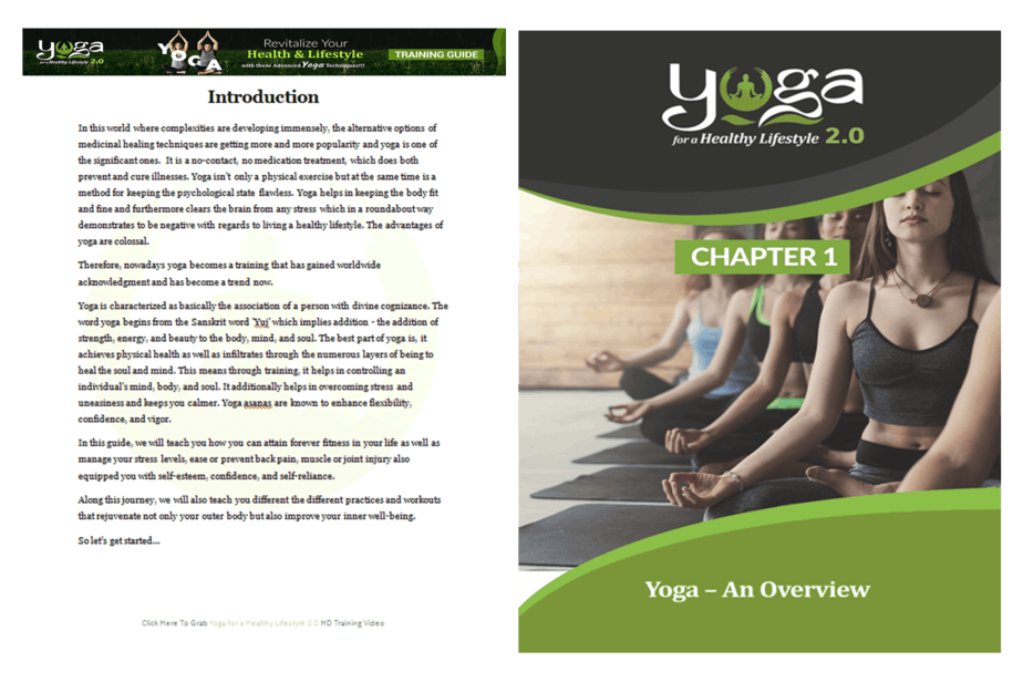 Yoga for a Healthy Lifestyle 2.0 PLR Sales Funnel Overview