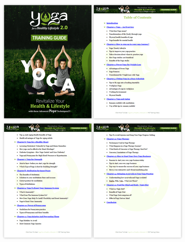Yoga for a Healthy Lifestyle 2.0 PLR Sales Funnel Training Guide