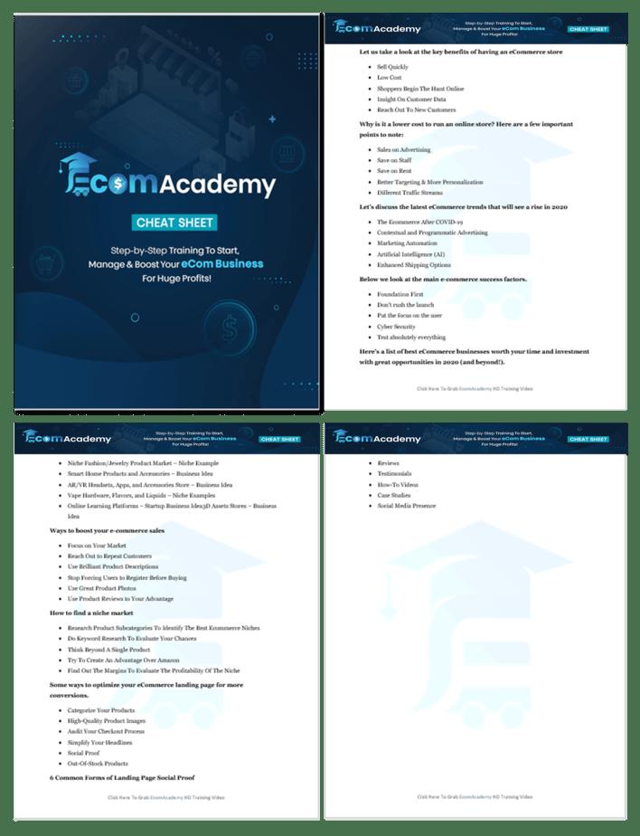 eCommerce Academy Cheat Sheet 1