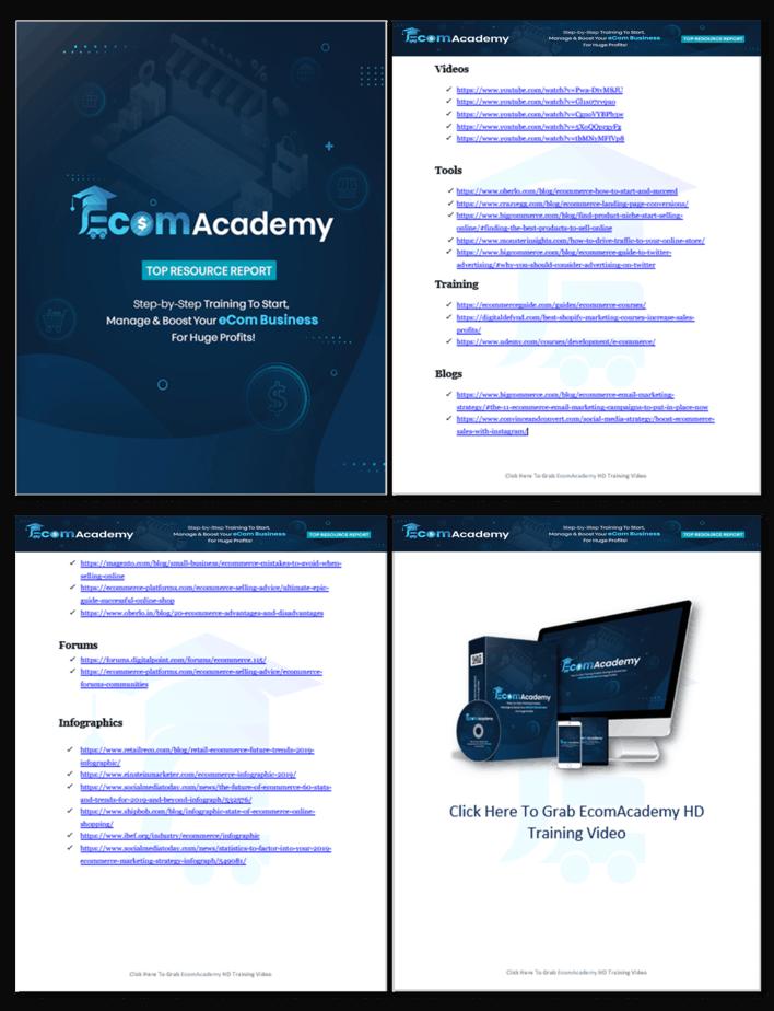 eCommerce Academy Top Resource Report 1