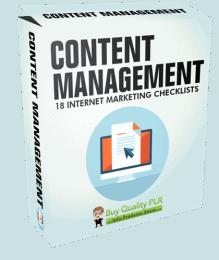 Internet Marketing Checklists Content Management