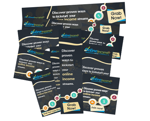 Online Income Formula PLR Sales Funnel Animated Banners