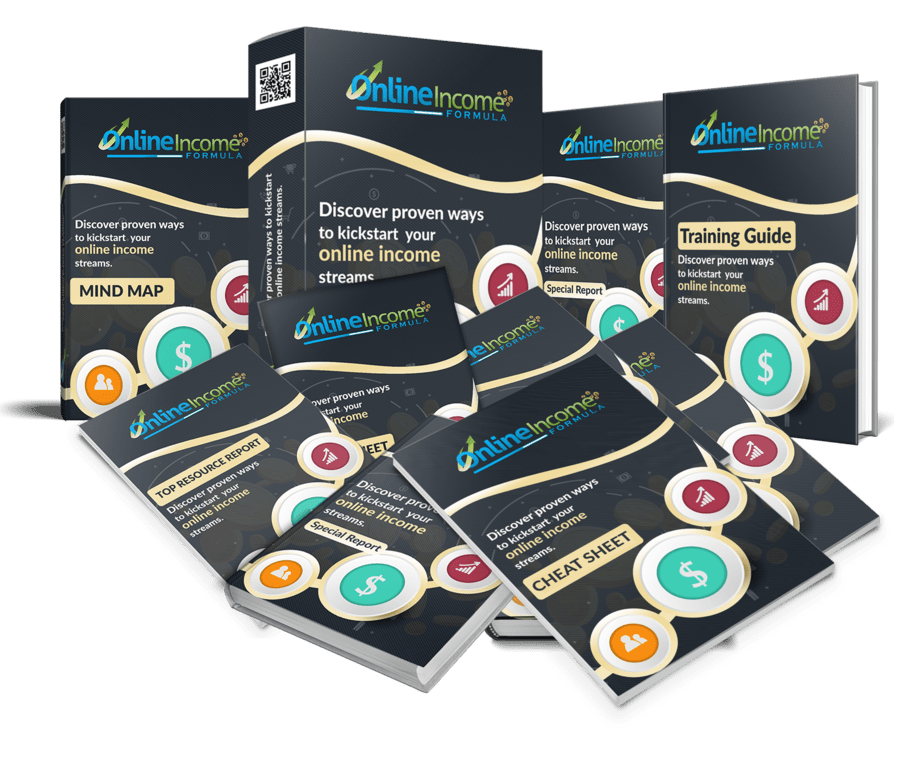 Online Income Formula PLR Sales Funnel Professional Graphics