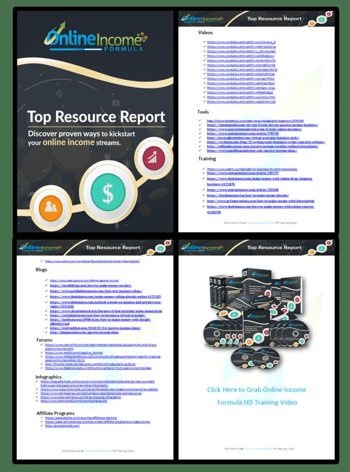 Online Income Formula PLR Sales Funnel Top Resource Report Screenshot