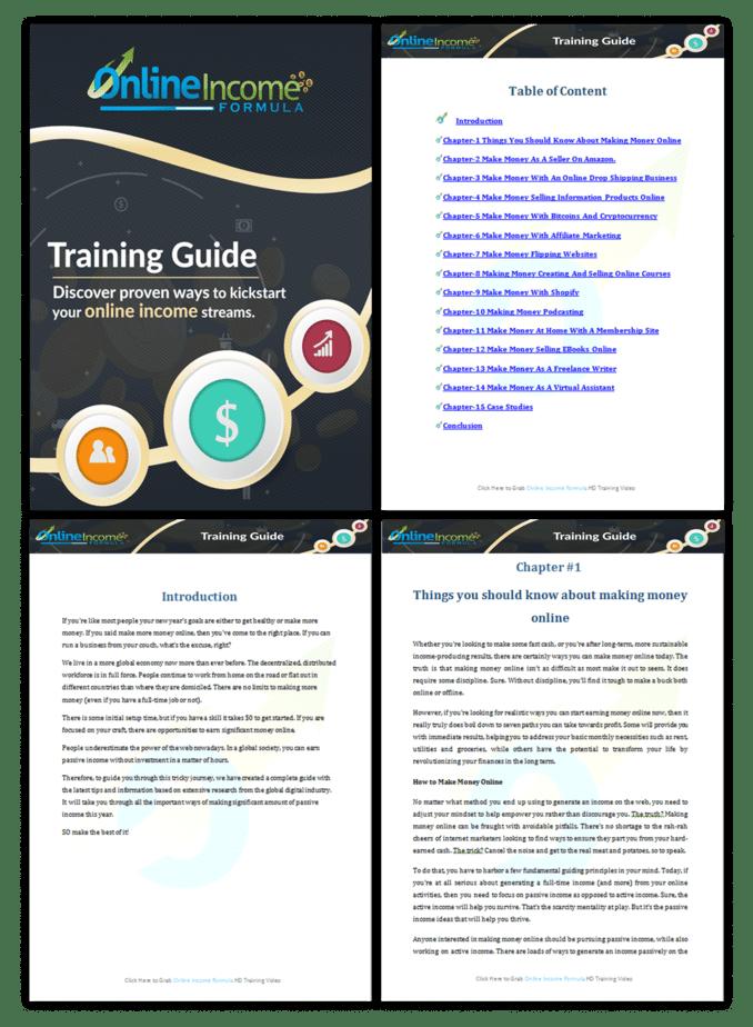 Online Income Formula PLR Sales Funnel Training Guide Screenshot