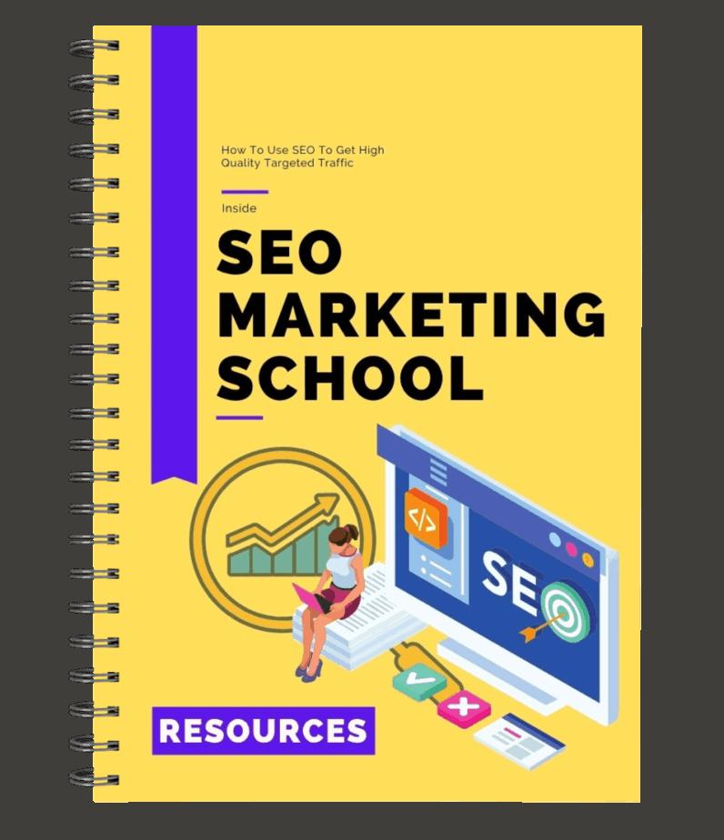 SEO Marketing School Resource Cheat Sheet