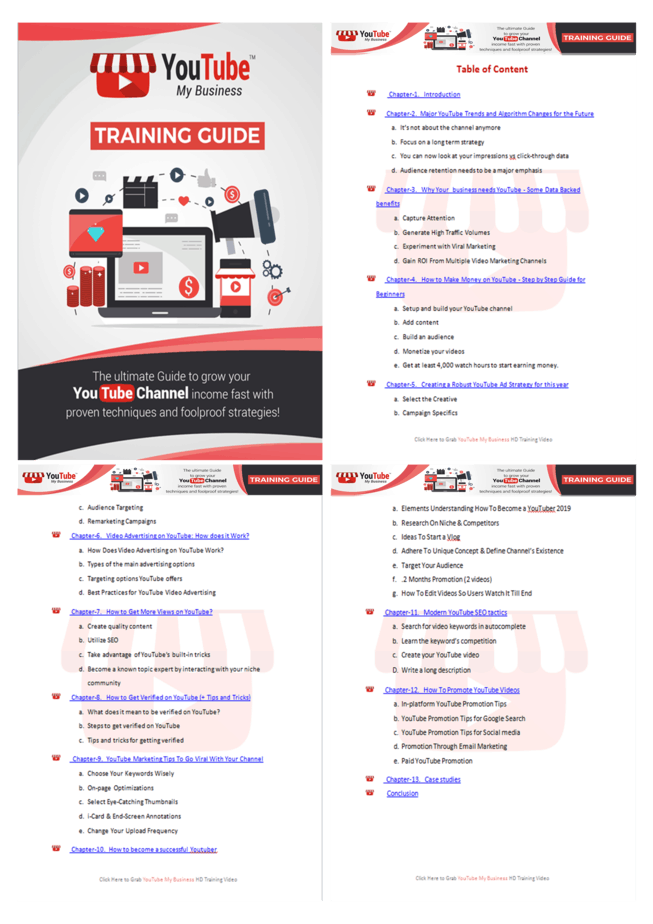 YouTube My Business PLR Sales Funnel Training Guide Screenshot