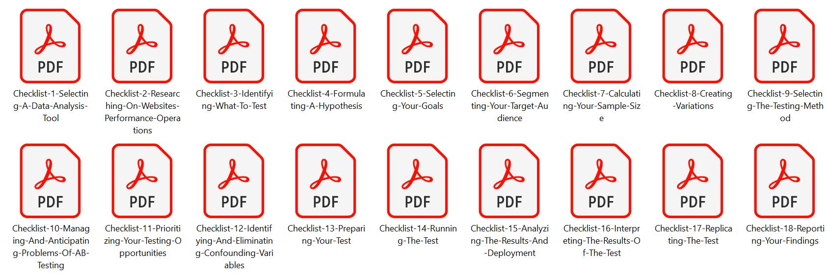 Internet Marketing Checklists Split Testing and Optimization Screenshot